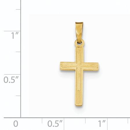 14K Yellow Gold Polished Cross Latin Pendant - image 1 de 2