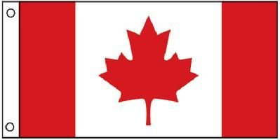"""1324 Canadian Ensign Boat Flag (12"""" x 24""""), Perma-print dyed nylon with reinforced nylon heading By Taylor Made Products by"""