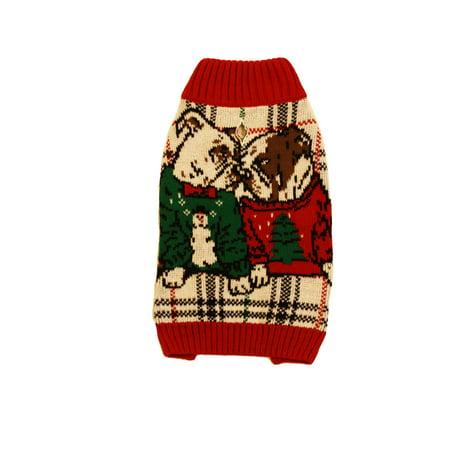 Ugly Christmas Sweater LED Light Up Bull Dog Puppy Love Dog Pet Sweatshirt](Puppy Up)