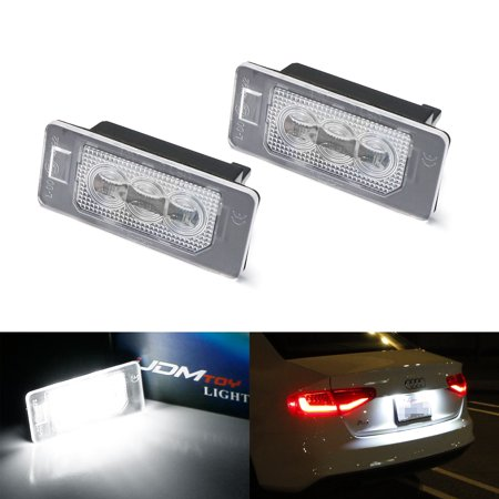 iJDMTOY (2) OEM-Replace CAN-bus Error Free 3-LED License Plate Light Assy  For Audi A3 A4 A5 A6 A7 Q3 Q5 Q7 TT Porsche Cayenne Panamera, etc
