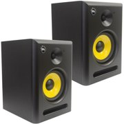 Seismic Audio  - Pair of Active 6 Inch Studio Reference Monitors - 75 Watts RMS - Spectra-6P-Pair