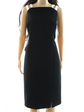 29fd41252c7 Product Image Lauren by Ralph Lauren NEW Black Womens Size 14 Contrast  Sheath Dress