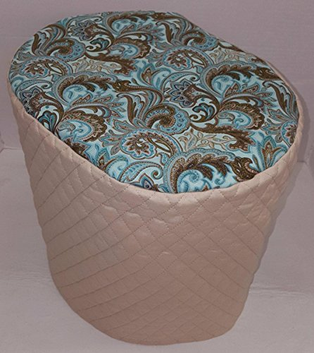 Brown Teal Paisley Cover Compatible with Keurig Coffee Brewing Systems (Tan, 2.0 - K300 thru K575)