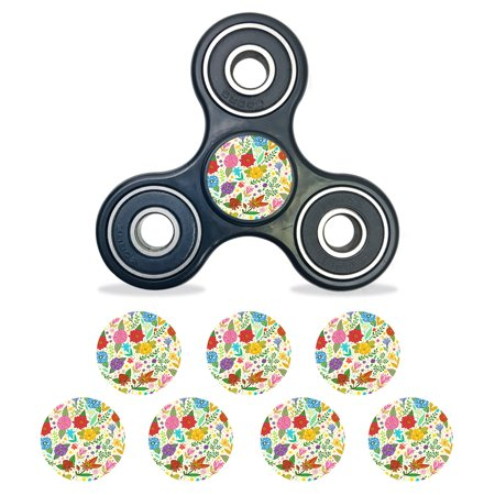 Skin Decal Wrap For Fidget Spinner Center Cap Bearing Cap 8 Pack Flower Garden