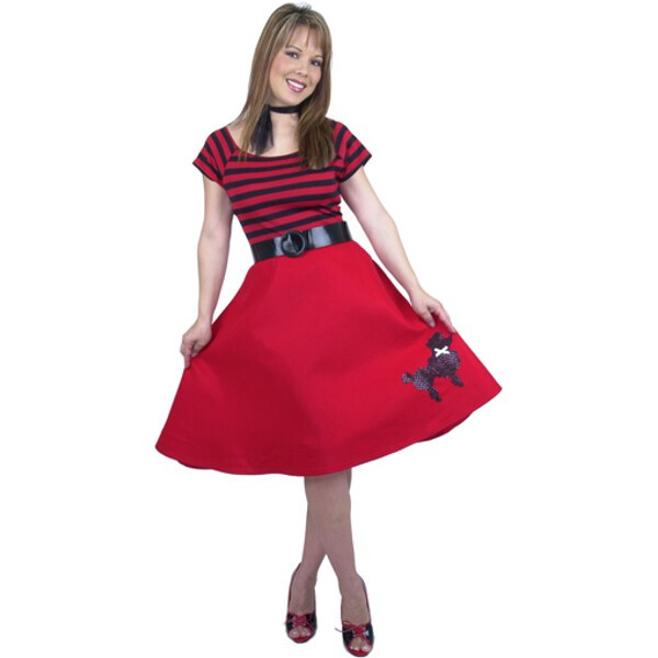 Adult Red Poodle Dress Costume~Small 5-7 / Red