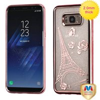 For Samsung Galaxy S8 Plus Sheer Glitter Premium Silicone Candy Skin Case Cover
