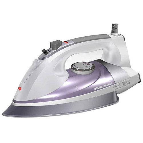 Black & Decker Professional Steam Iron with Pivoting Cord, Purple