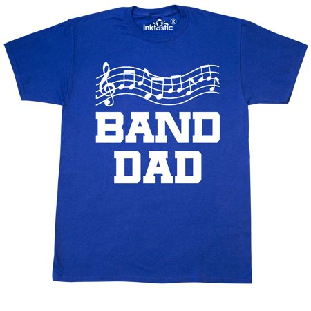 Inktastic marching band dad music staff gift t shirt high for High school band shirts