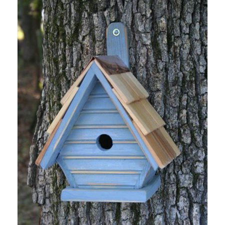 Chick Bird House in Antique Blue Finish