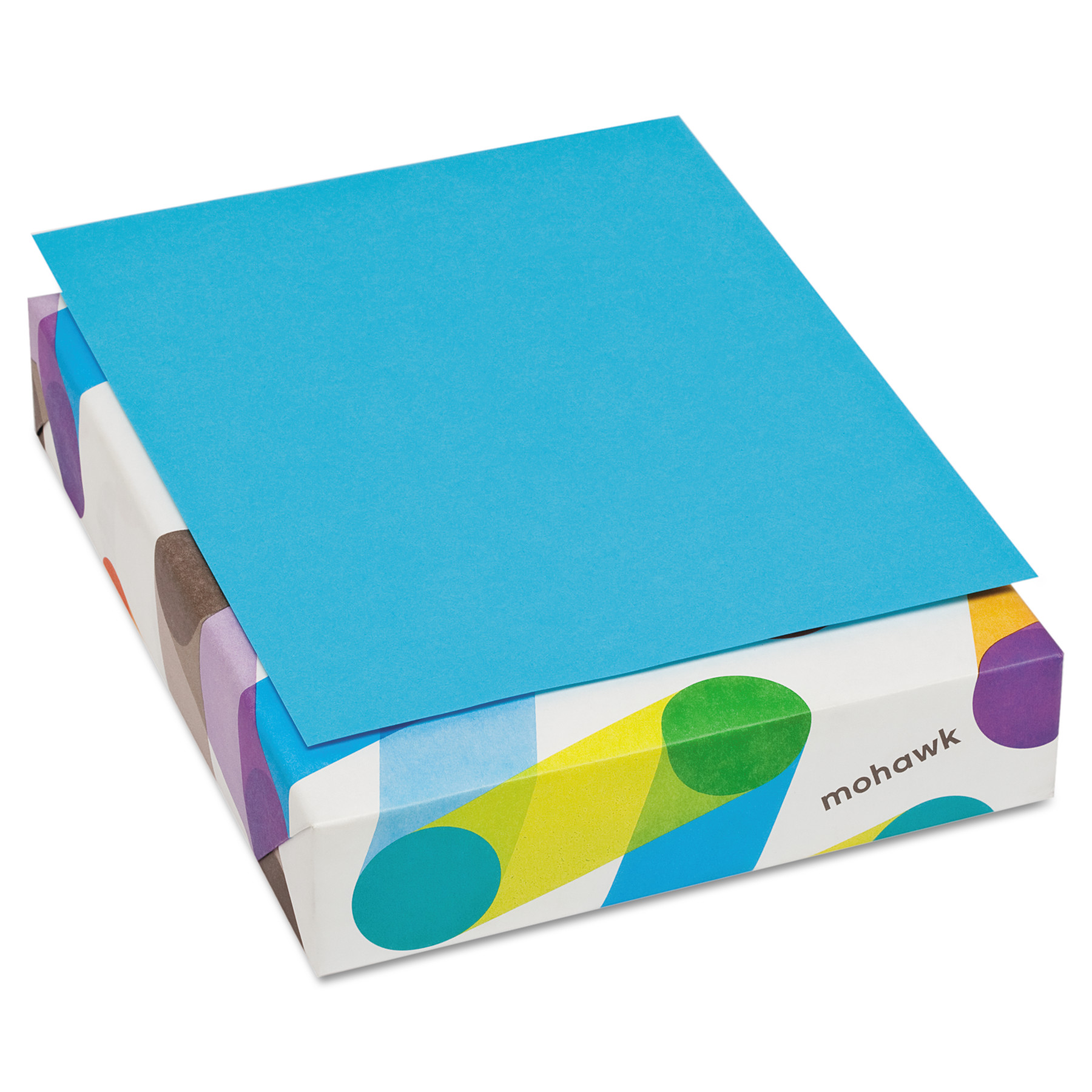 Mohawk BriteHue Multipurpose Colored Paper, 20lb, 8 1/2 x 11, Blue, 500 Sheets