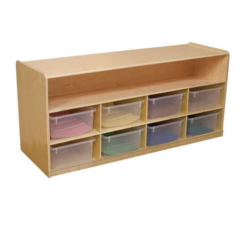 Wood Designs 8 Compartment Shelving Unit with Casters