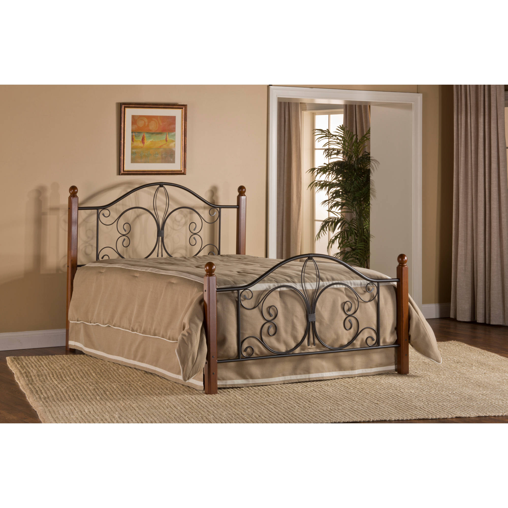 Hillsdale Furniture Milwaukee Wood Post Full Bed with Bedframe