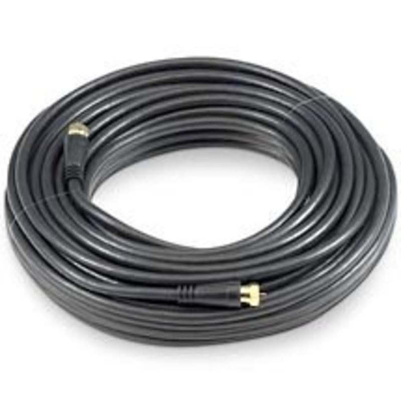 100' Tv Cable Black Black Point TV Wire and Cable BV-16 014759005162