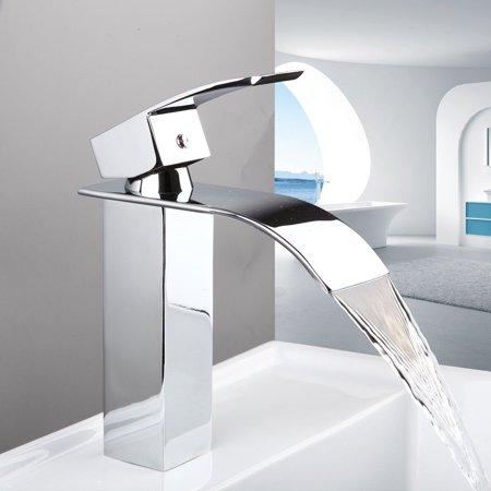 Faucet Waterfall Series (TANBURO Bathroom Faucet Single Handle Waterfall Bathroom Lavatory)