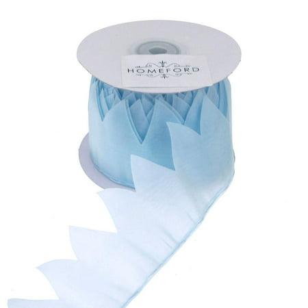 Star Pouch Pull Bow Organza Ribbon, 2-Inch, 10 Yards, Light Blue