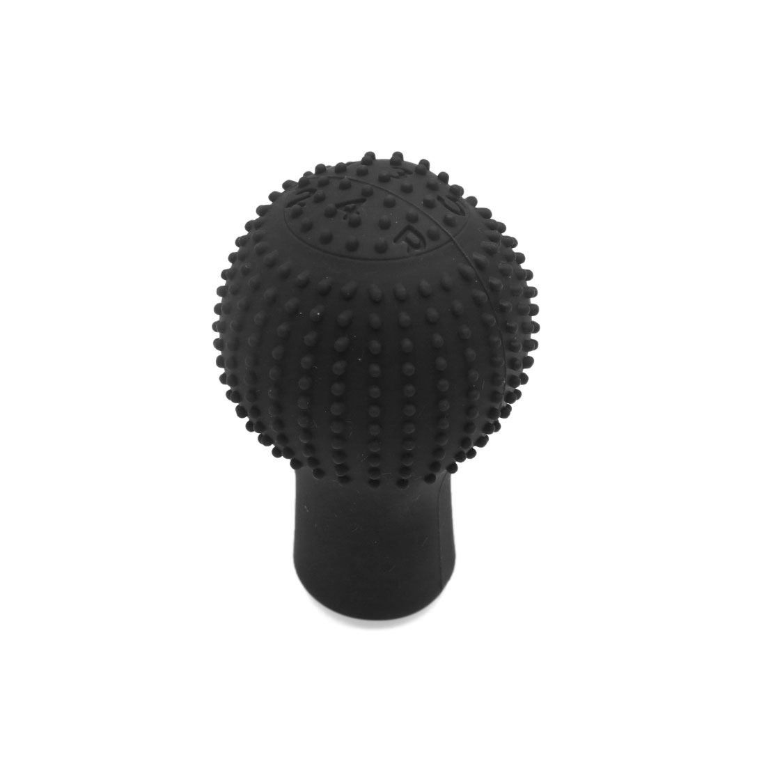 Black Rubber Car Round Hand Brake Head Cover Gear Shift Knob Cushion Protector - image 3 of 3