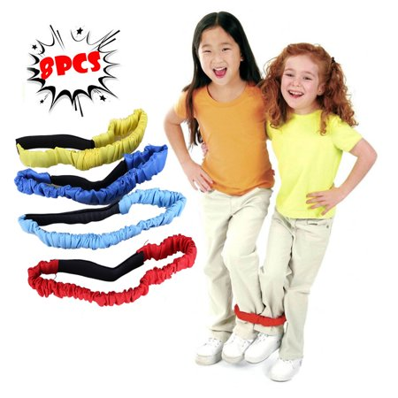 Halloween Games Relay Races (Outtop 3-legged RACE Belt Elastic Tie Rope With 4 Colors Suitable For Relay RACE)