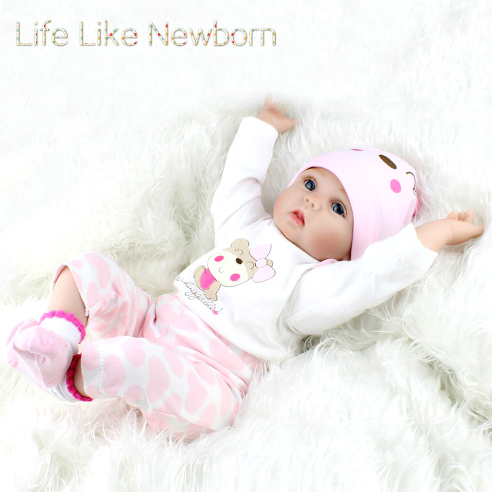 22inch Silicone Baby Dolls Vinyl Kids Gift that Look Real Life Handmade Reborn Dolls Toy For Kids Chirstmas... by