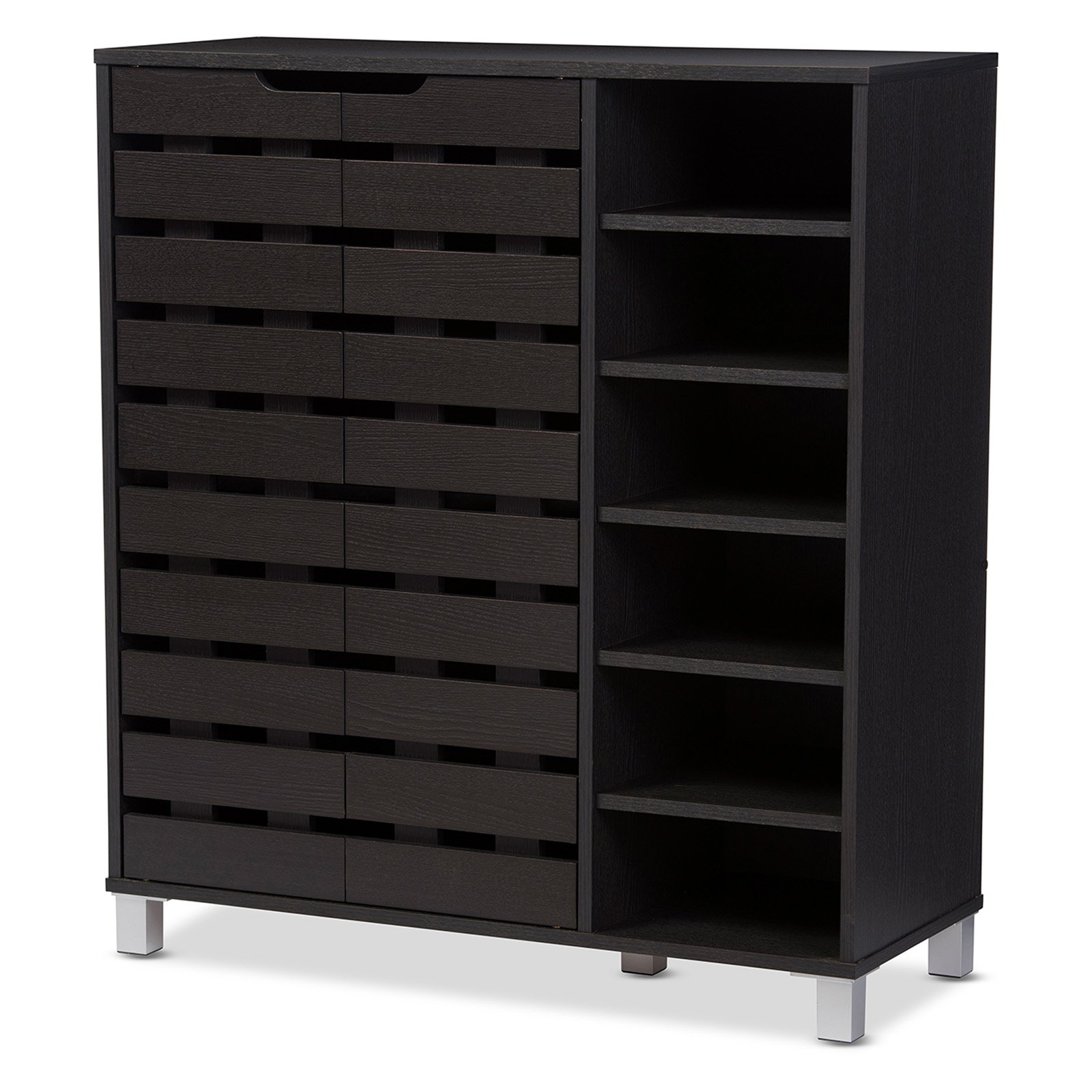 Baxton Studio Shirley 2 Door Shoe Cabinet