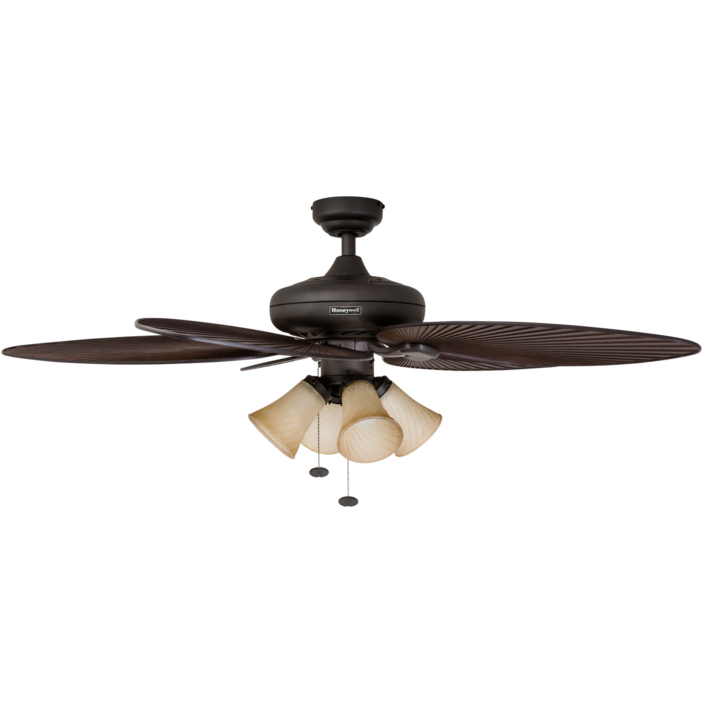 """17 Best Images About Tropical Ceiling Fans With Lights On: 52"""" Honeywell Palm Ceiling Tropical Bronze Island Fan With"""