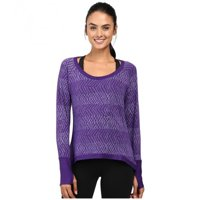 tasc Women's Bywater High-Low Sweatshirt Print, Oh My Dash/Plum Berry, Small