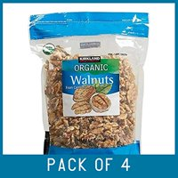 Organic Whole Walnuts Shelled and Unsalted From California 1.7 lb (Pack of 4)