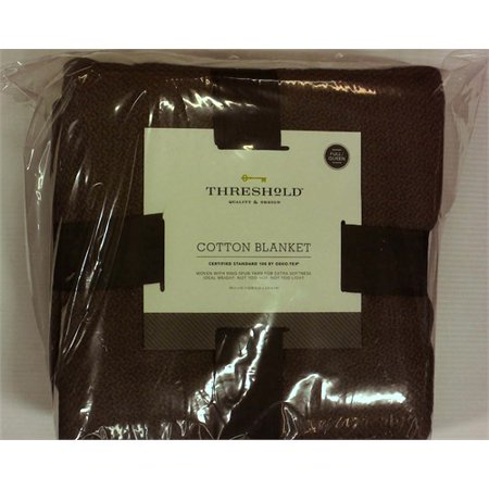 Full/Queen Solid 100% Cotton Bed Blanket Gray - Threshold™
