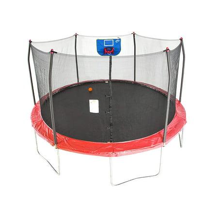 Skywalker Trampolines 15-Feet Jump N' Dunk Trampoline with ...