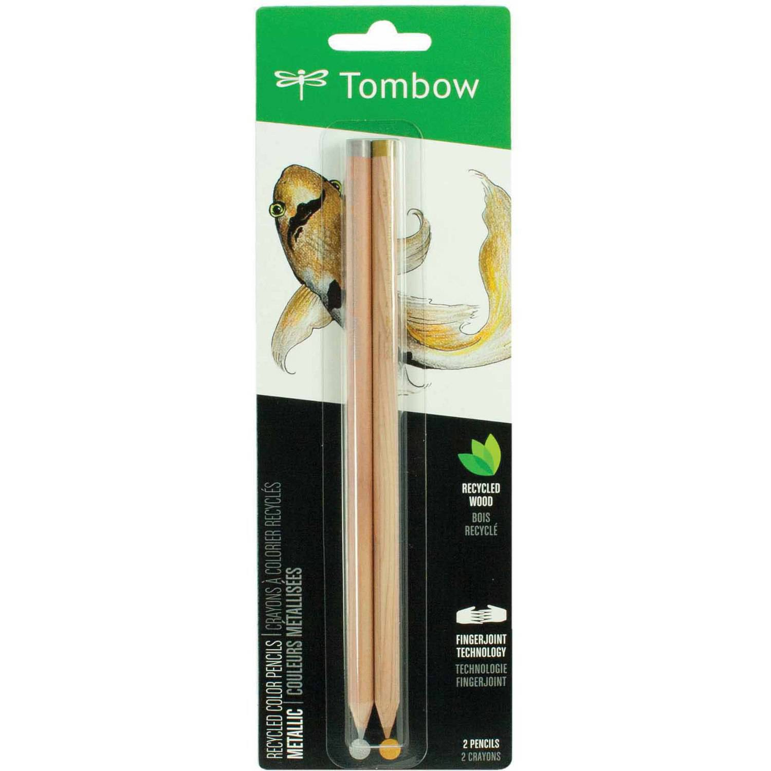 Tombow Recycled Colored Pencils, Metallic, 2-Pack