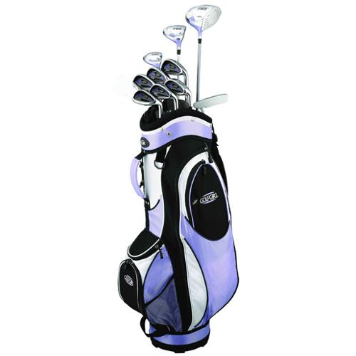 Golf Girl FWS2 LILAC Lady Hybrid Club Youth Set & Cart Bag