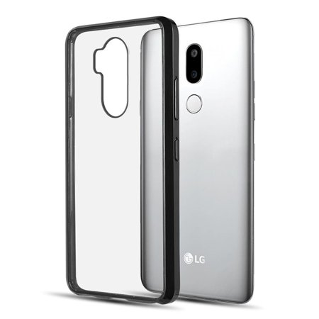 LG G7 ThinQ Case, by Insten Fusion Candy Acrylic Transparent Case Cover For  LG G7 ThinQ, Black