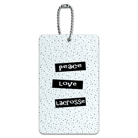 Peace Love Lacrosse ID Card Luggage Tag