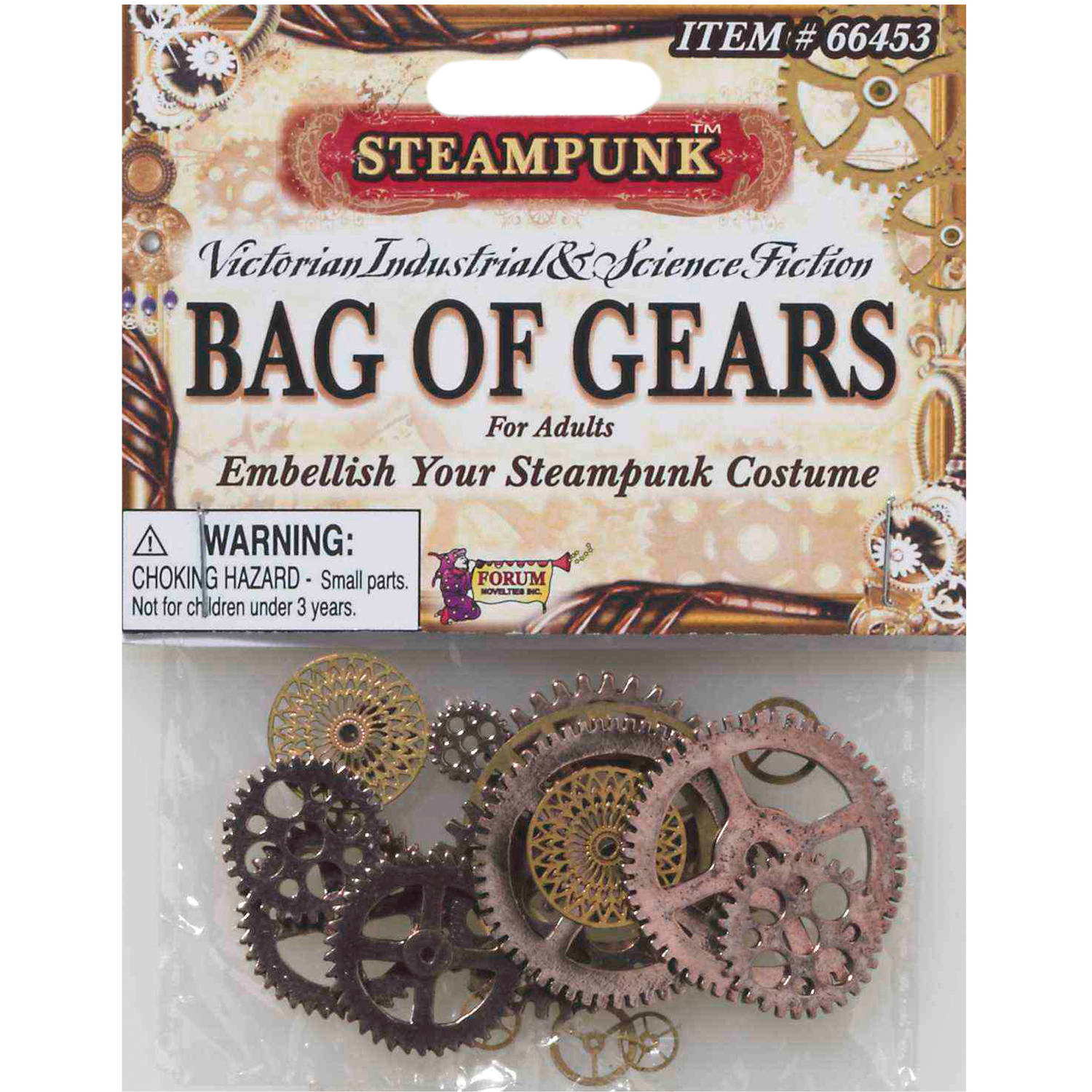 Steampunk Bag Of Gears Adult Halloween Accessory