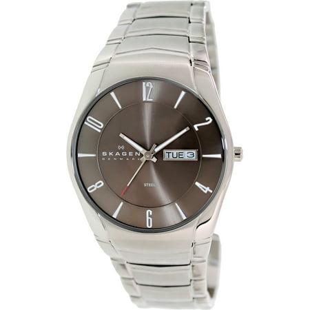 Skagen Men's Black Label 531XLSXM1 Silver Stainless-Steel Quartz Watch