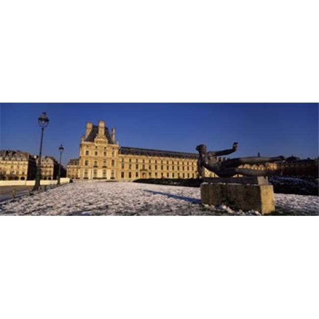Panoramic Images PPI111437L Statue in front of a palace  Tuileries Palace  Paris  Ile-de-France  France Poster Print by Panoramic Images - 36 x 12