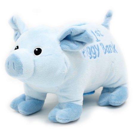 Easter Wal Mart 10  Babys First Piggy Bank  Blue
