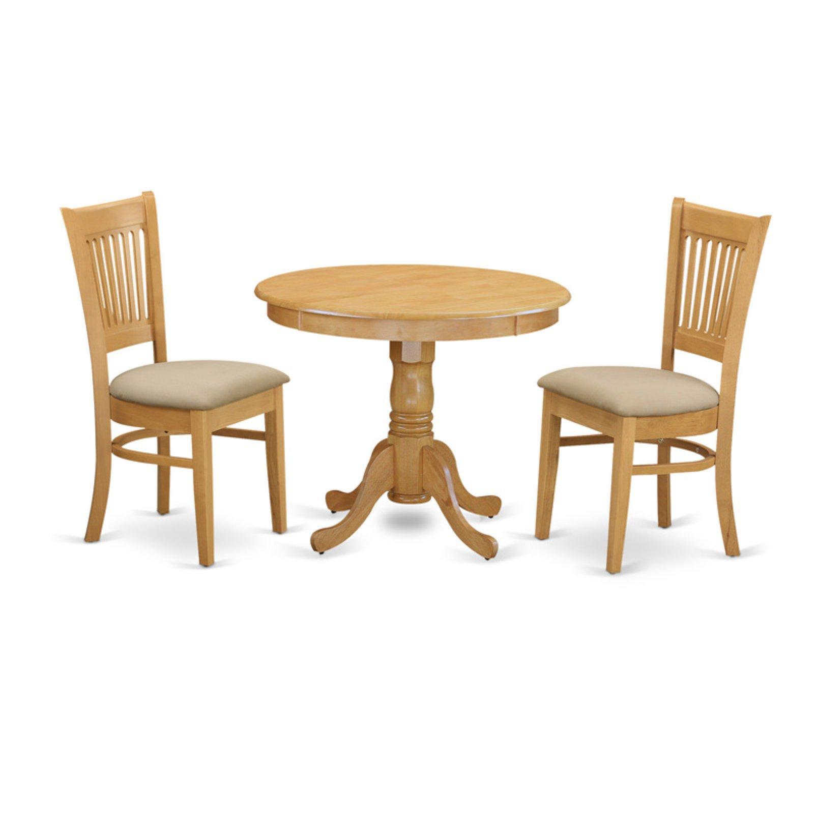 East West Furniture 3 Piece Hepplewhite Modern Kitchen Dinette Dining Table Set