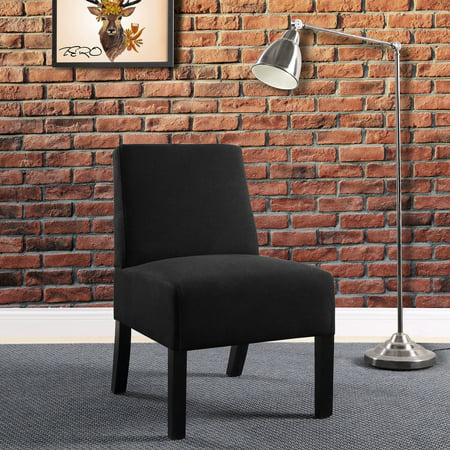 Compact Accent Chair, Black (Black Circle Accents)