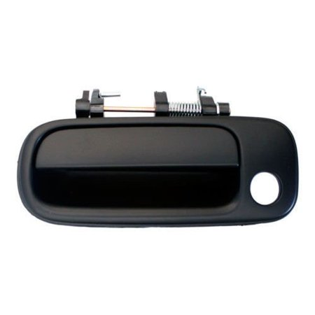 1992-1996 Toyota Camry Front Outside Outer Exterior Black Door Handle Left Driver Side (1992 92 1993 93 1994 94 1995 95 1996 96), Brand New By Aftermarket Auto (Toyota Camry Drivers Side Corner)