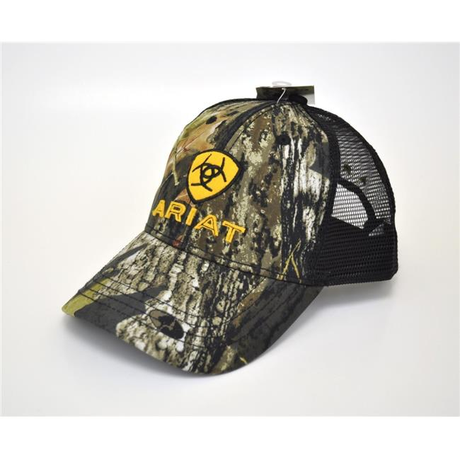 M&F Western Products 15816222 Ariat Mens Snap Back Embroidered Shield Logo Cap - Camo - image 1 of 1
