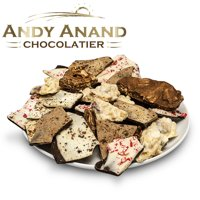 Andy Anand Chocolate drenched 3 oz each Potato Chips, Espresso Coffee, Cranberry Cashew, Jawa Chai Gift Boxed Greeting Card Delicious & Divine Birthday Christmas Holiday Fathers Day (1lbs)