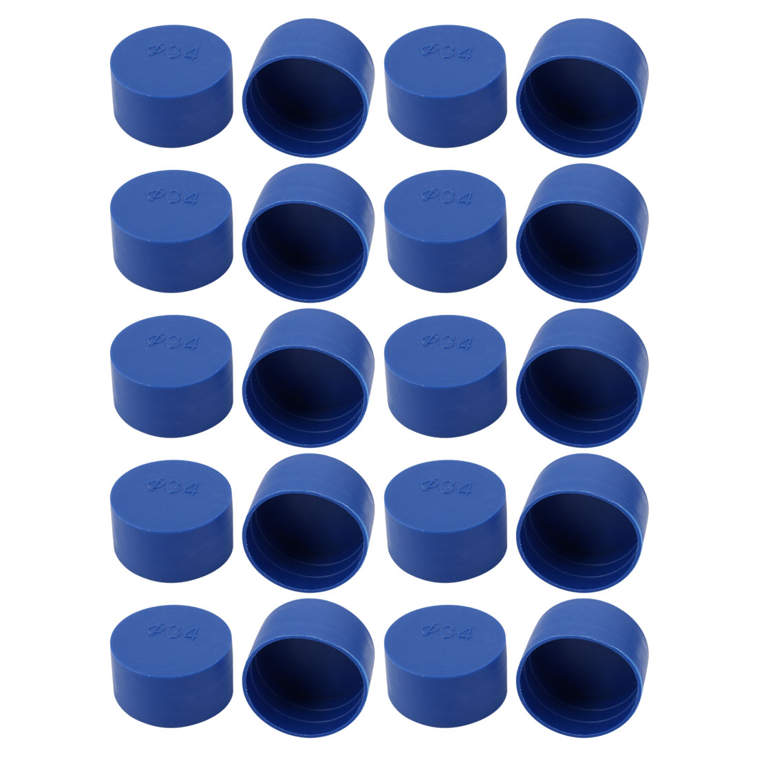 20pc 34mm Dia Interne PE Capuchon plastique protecteur filetage vis bleu Tube - image 2 de 2