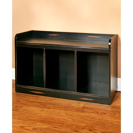 Entryway Furniture ( Distressed Black Bench ) - Walmart.com