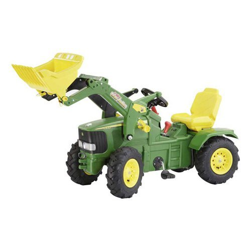 John Deere Air Tire Farm Tractor with Loader Pedal Riding Toy