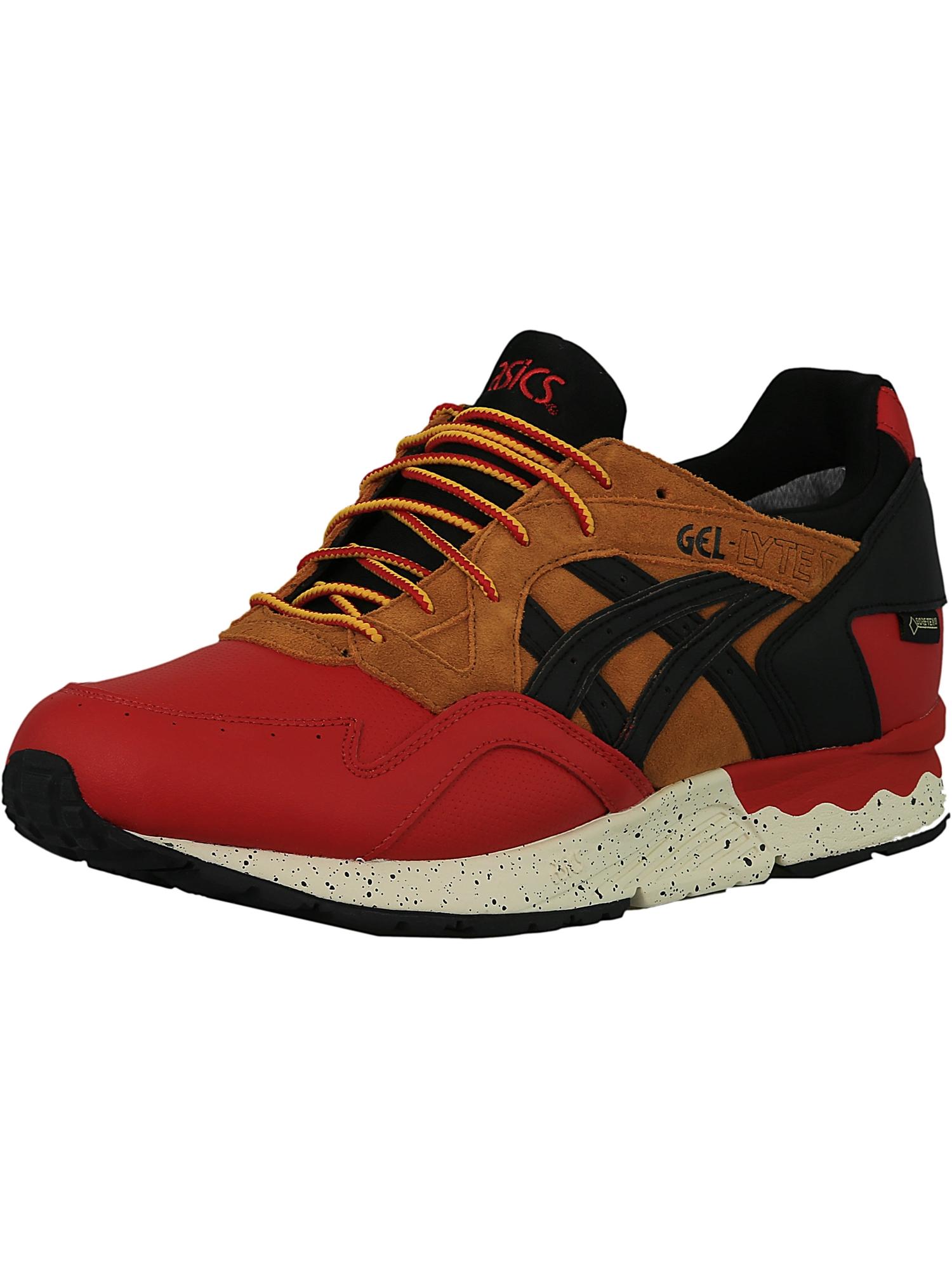 Asics Men's Gel-Lyte V G-Tx Red / Black Ankle-High Leather Running Shoe - 10.5M