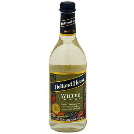 Holland House White Cooking Wine, 16 oz (Pack of 6)