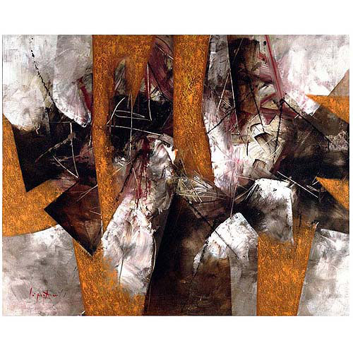 "Trademark Fine Art ""Abstract III"" Canvas Art by Lopez, 26x32"