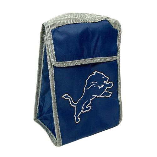 Detroit Lions Official NFL 9 inch  x 7 inch  x 5 inch  Insulated Velcro Lunch Box Lunchbox Bag by Forever Collectibles