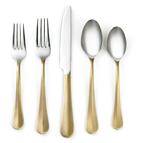 Cambridge Silversmiths Devi Brass 20-Piece Flatware Set
