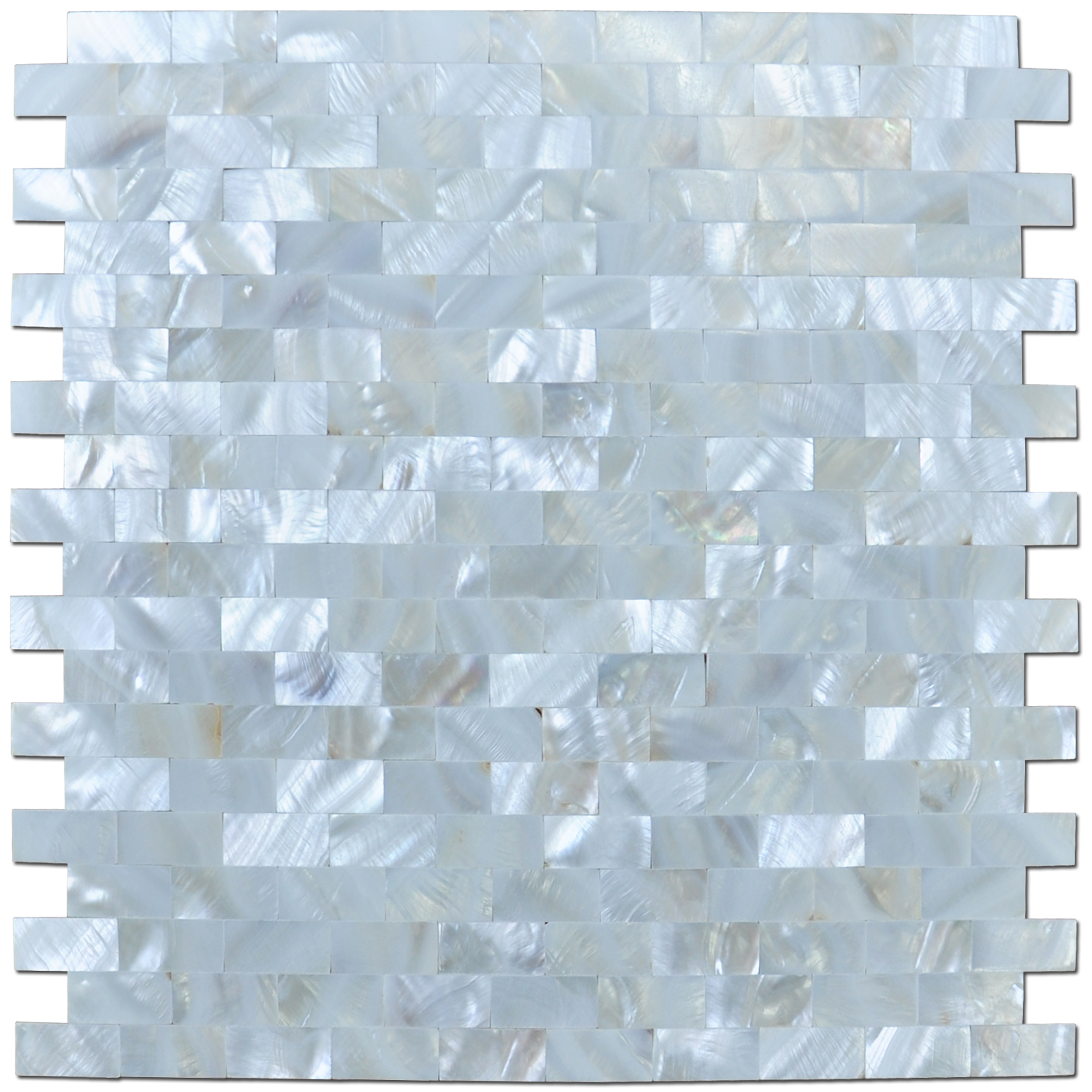 "Mother of Pearl White Shell Mosaic Tile for Kitchen Backsplashes, Bathroom Walls, Spas, Pools, 12"" x 12"" Seamless(6 Pack)"